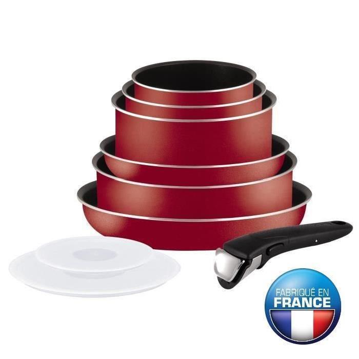 batterie de cuisine tefal ingenio essential bugatti l2059802 rouge 9 pi ces tous feux sauf. Black Bedroom Furniture Sets. Home Design Ideas