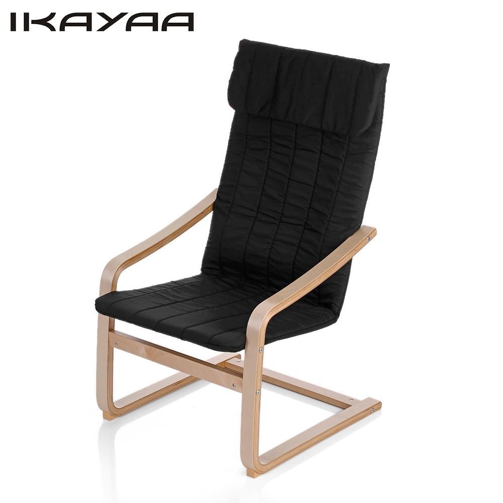 chaise en bois contemporaine ikayaa noir livraison. Black Bedroom Furniture Sets. Home Design Ideas
