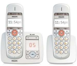 t l phone fixe philips dect avec r pondeur xl 665 duo. Black Bedroom Furniture Sets. Home Design Ideas