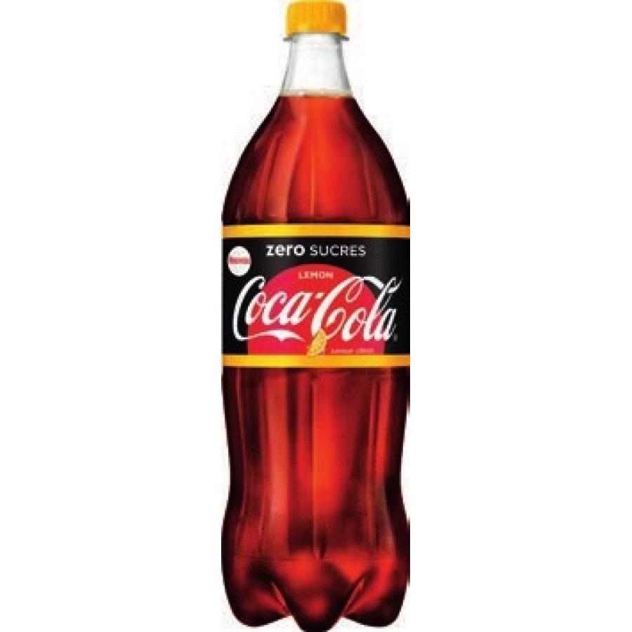 bouteille de coca cola z ro citron 1 5l via bdr. Black Bedroom Furniture Sets. Home Design Ideas