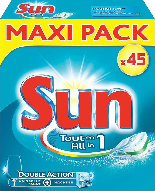 lot de 4 paquets de tablettes pour lave vaisselle sun maxi. Black Bedroom Furniture Sets. Home Design Ideas