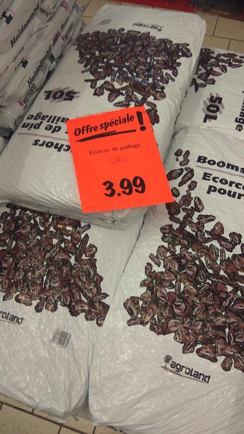sac de 50l d 233 corces de paillage agroland pin dealabs
