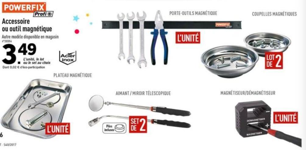 s lection d 39 accessoires magn tiques powerfix ex porte outils magn tiques. Black Bedroom Furniture Sets. Home Design Ideas