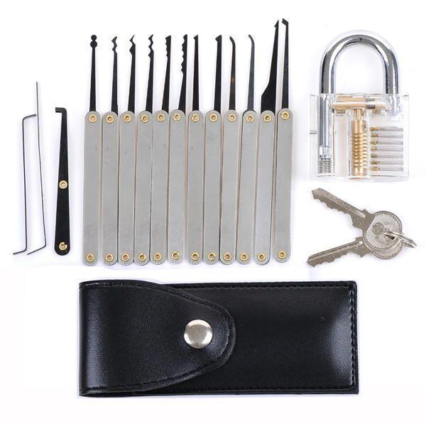Kit de crochetage 12 outils cadenas d 39 entra nement - Outil de crochetage ...