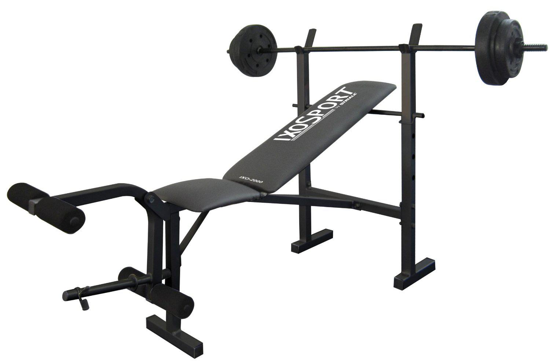 banc de musculation avec starter kit ixo sport 2000 noir. Black Bedroom Furniture Sets. Home Design Ideas