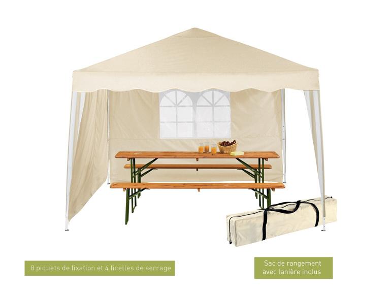 tonnelle pliable en aluminium. Black Bedroom Furniture Sets. Home Design Ideas