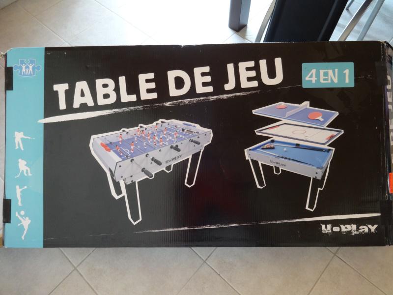 table de jeux 4 en 1 u play. Black Bedroom Furniture Sets. Home Design Ideas
