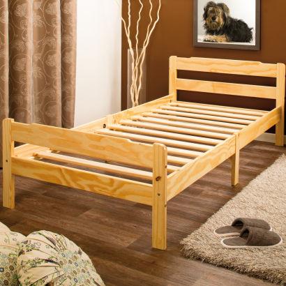 lit en pin 1 personne. Black Bedroom Furniture Sets. Home Design Ideas