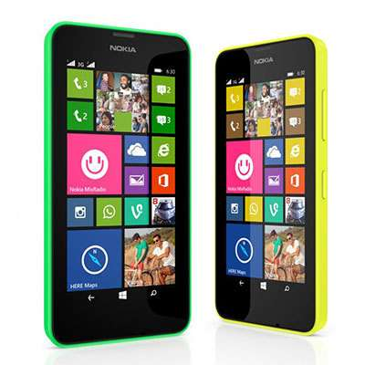 Smartphone Nokia Lumia 630 (Avec 30€ sur la carte de fidélité)