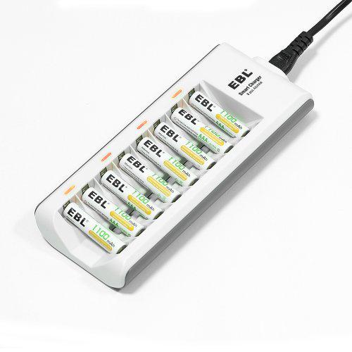 Chargeur universel de piles rechargeable ebl 808a c pour 8 - Chargeur de piles universel ...