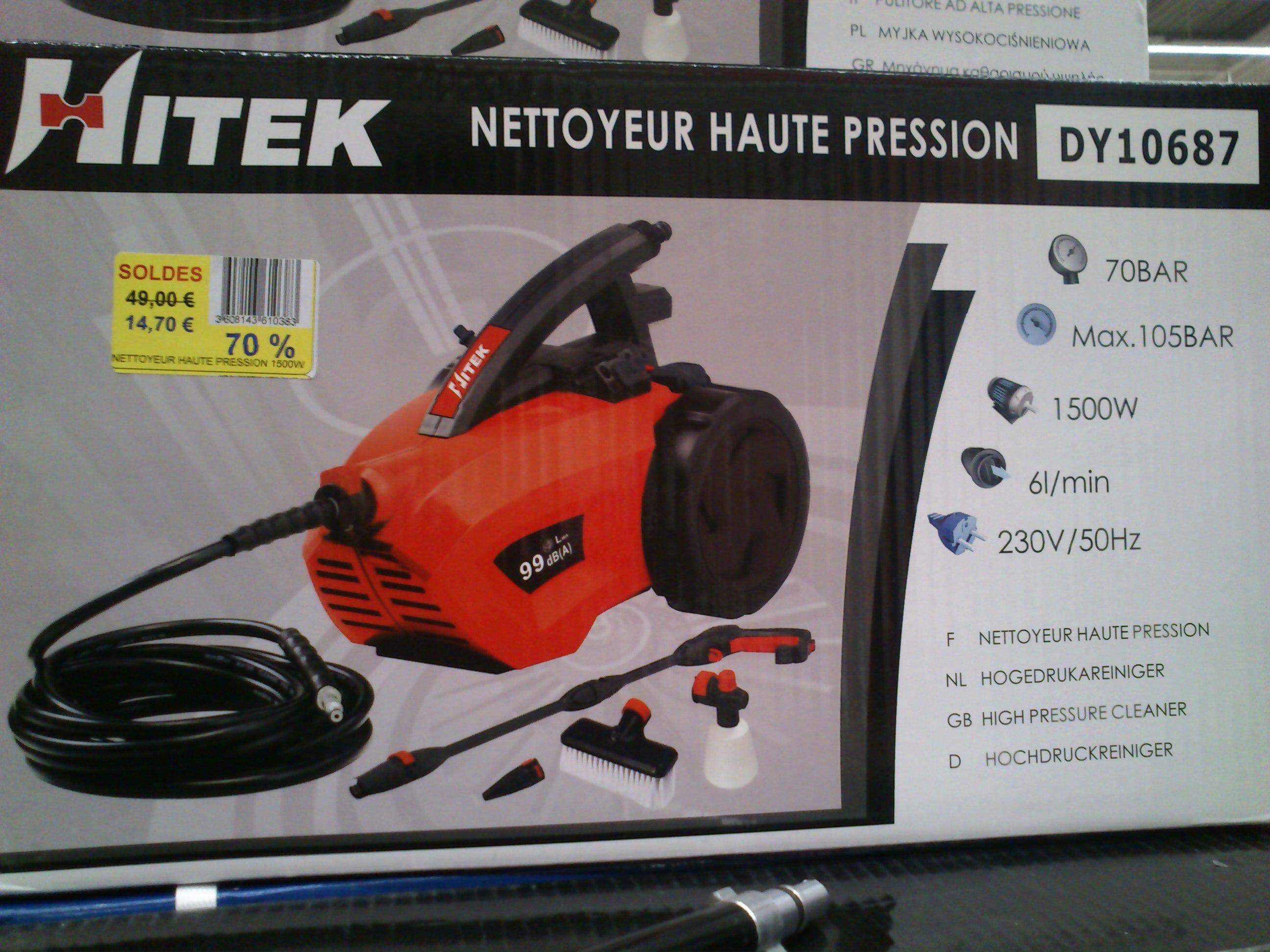 Nettoyeur haute pression hitek 105 bars - Carrefour nettoyeur haute pression ...