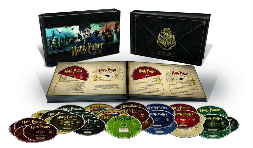 coffret blu ray 31 disques harry potter la collection poudlard l 39 int grale des 8 films en. Black Bedroom Furniture Sets. Home Design Ideas