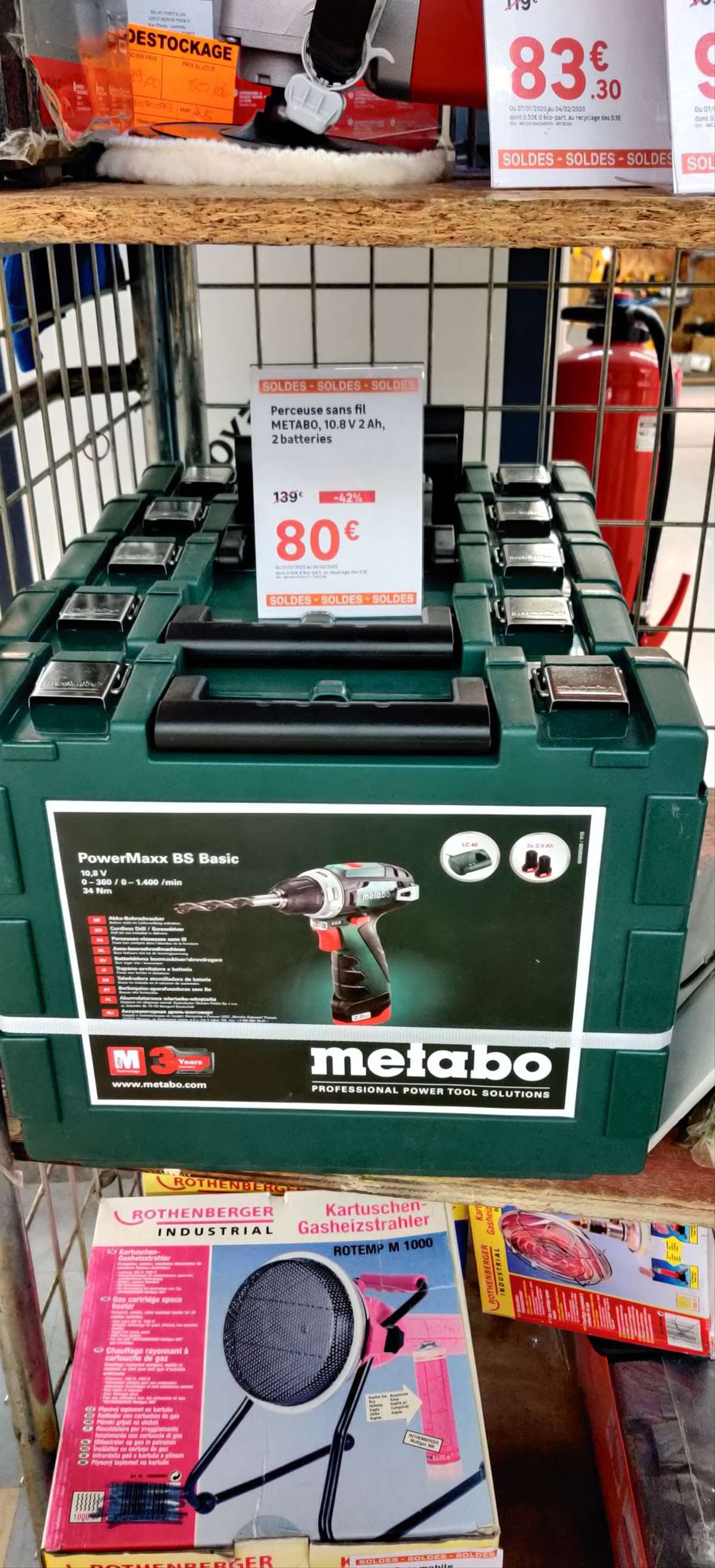 Perceuse Visseuse Metabo Powermax Bs Basic 108v 2