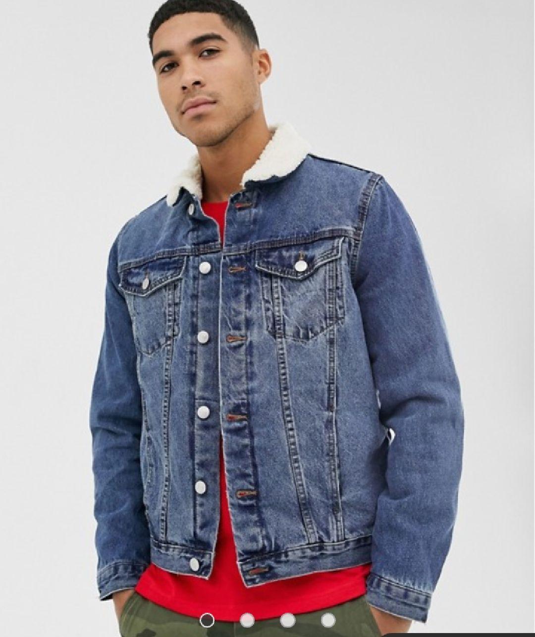 Veste en jean New Look doublée en imitation peau de mouton