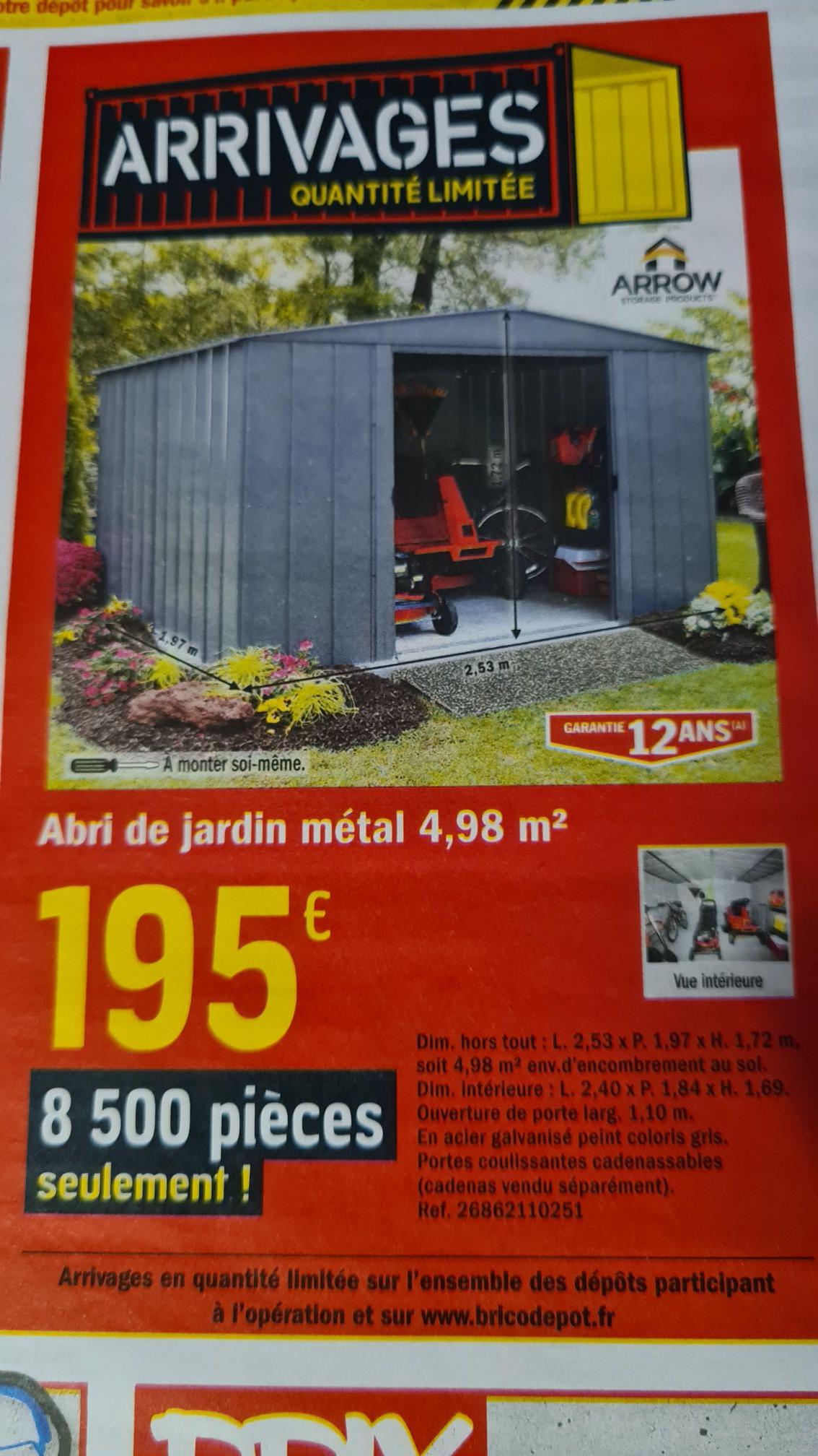 Abri De Jardin En Metal Arrow 4 98m2 Dealabs Com