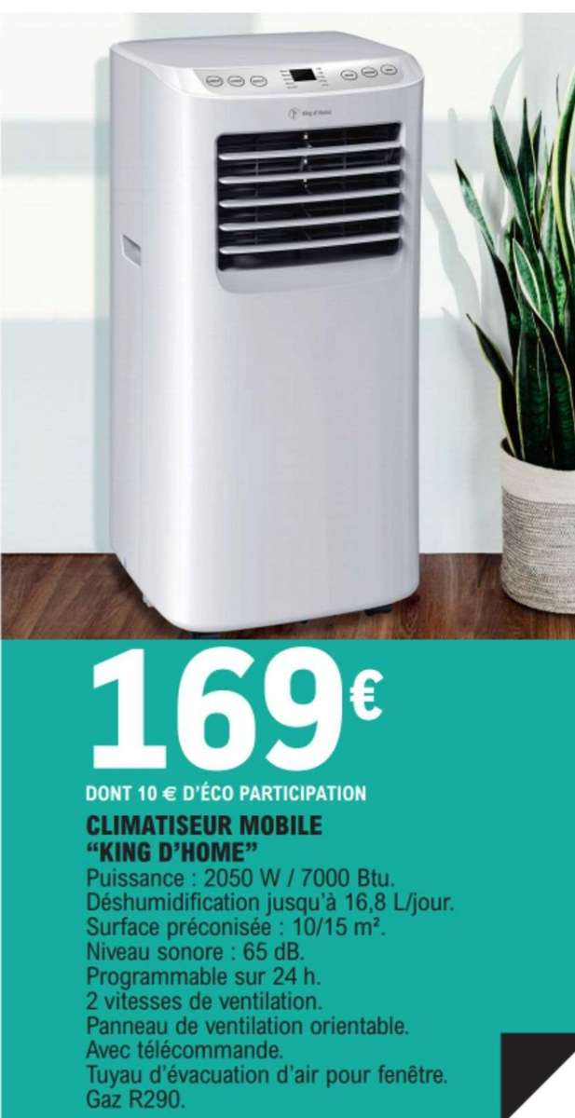 Climatiseur Mobile King D Home 2050w 7000 Btu Dealabs Com