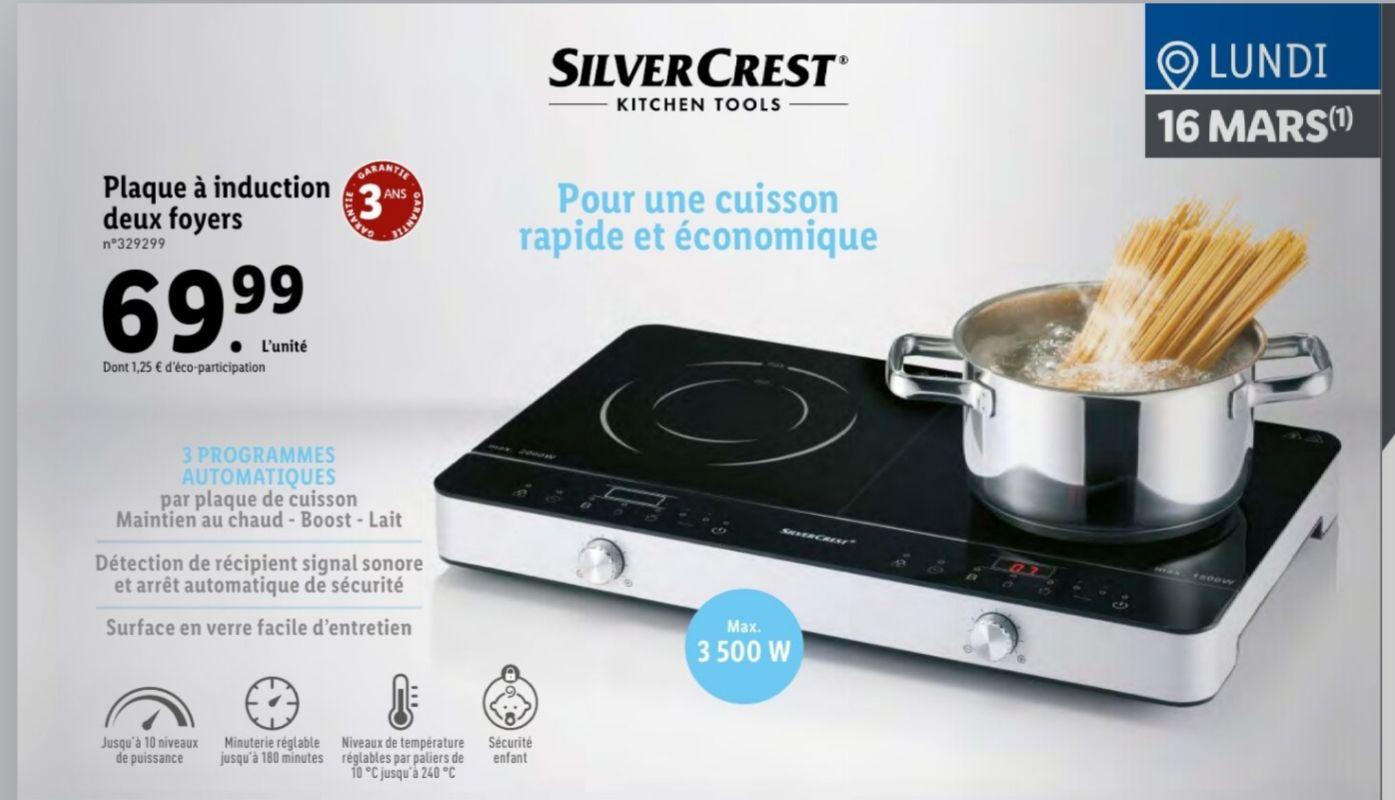 Plaque À Induction Pas Cher plaque à induction silvercrest - 2 foyers, 3500 w – dealabs
