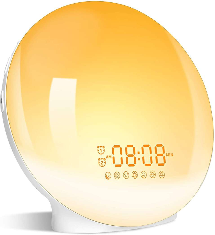 Radio Réveil GRDE Eveil Lumière avec LED (Via Coupon