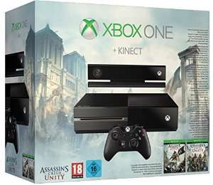 Console Xbox One + Kinect + Assassin's Creed: Unity + Assassin's Creed IV: Black Flag