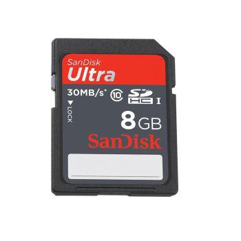 Carte mémoire SDHC SanDisk Ultra 8 Go Classe 10