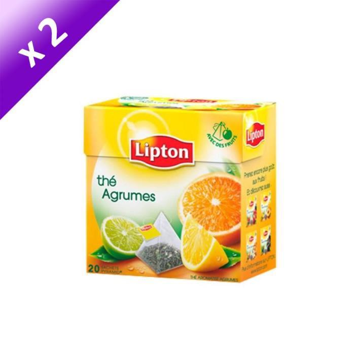 Thé agrumes Lipton - 2x20 sachets