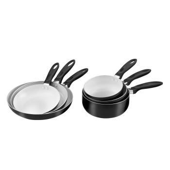 Batterie de cuisine 6 Pièces Céramique Pradel Excellence (3 poêles, 3 casseroles)