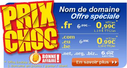 Nom de domaine .com/.fr/.be/.eu