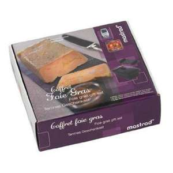 Coffret foie gras Mastrad - F71565 (1 terrine silicone, 1 presse, 1 thermo-sonde de cuisson et 1 livre de recettes)