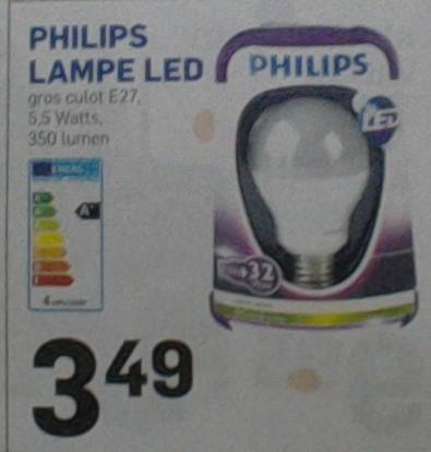 ampoule led philips 5,5w E27 350lumen