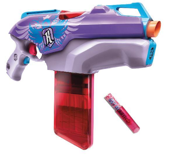 Pistolet automatique Nerf Rebelle avec 12 fléchettes