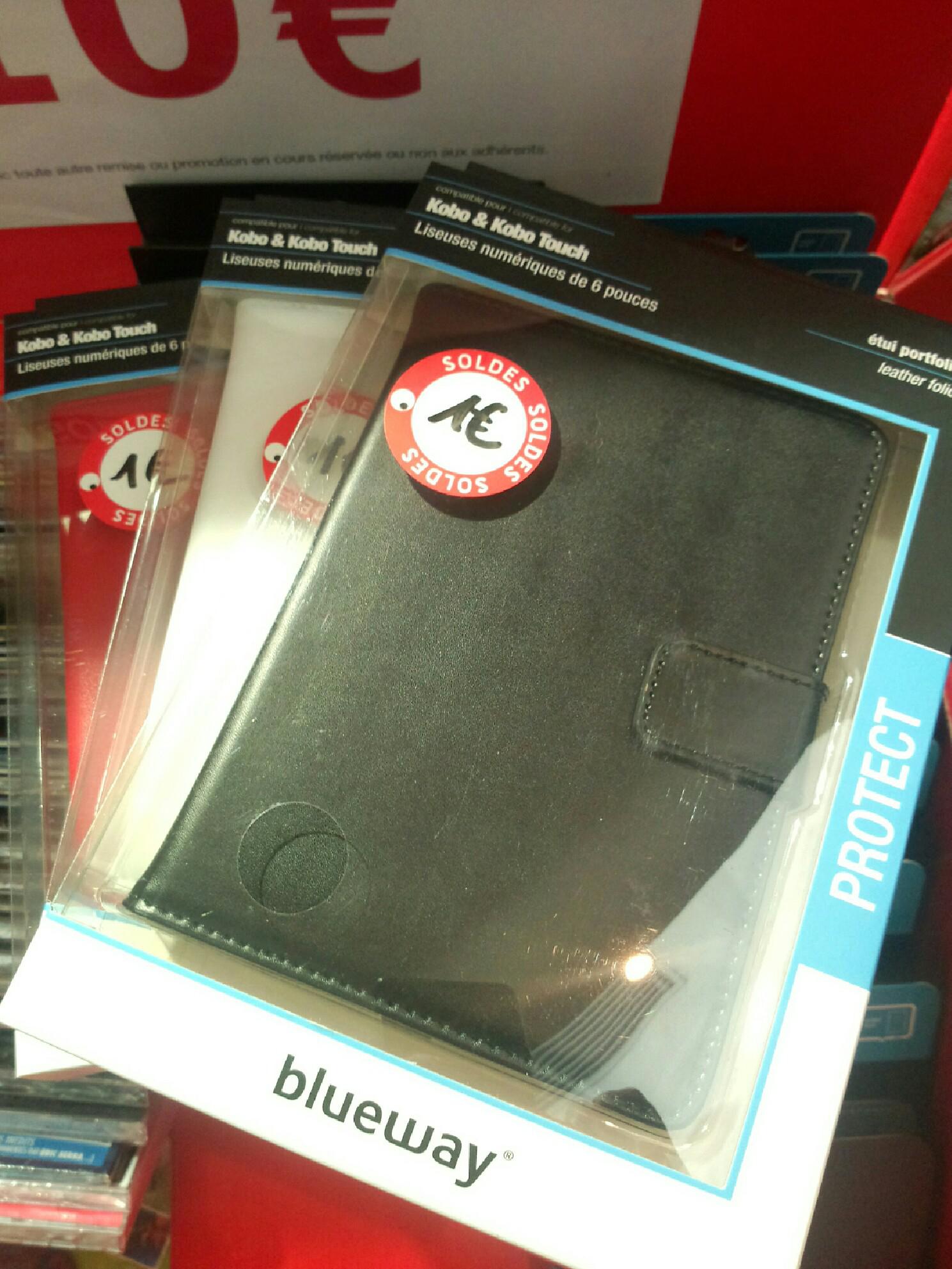 Etui Portfolio Modelabs en cuir pour liseuse numérique Kobo Touch