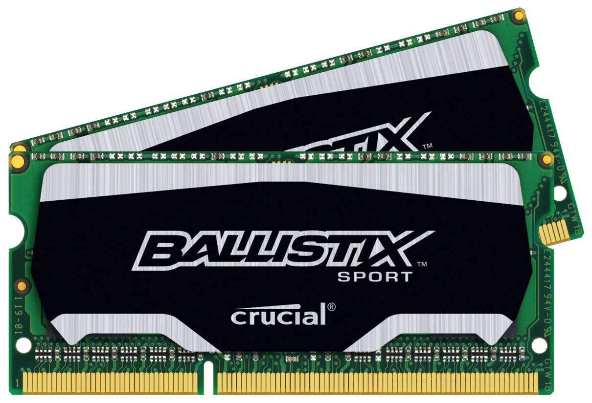 Mémoire RAM Crucial Ballistix Sport 8 Go DDR3L - SO DIMM 204 broches