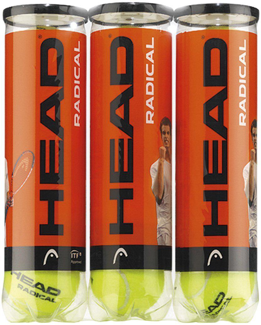 Lot de 12 balles de tennis Head Radical
