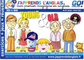 Abonnement d'un an au bimestriel J'apprends l'Anglais (6-8 ans)