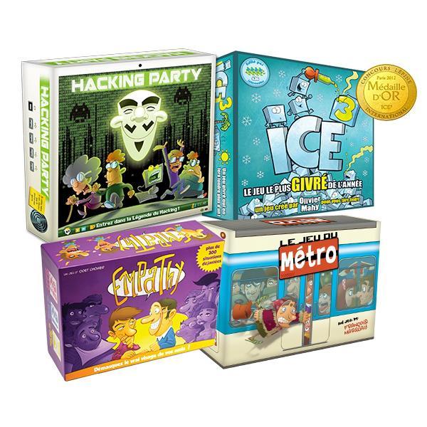 Sélection de jeux MyWittyGames : Ice3, Empathy, Jeu du Métro, Hacking Party