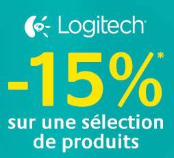 15% de réduction sur une sélection de périphériques Logitech