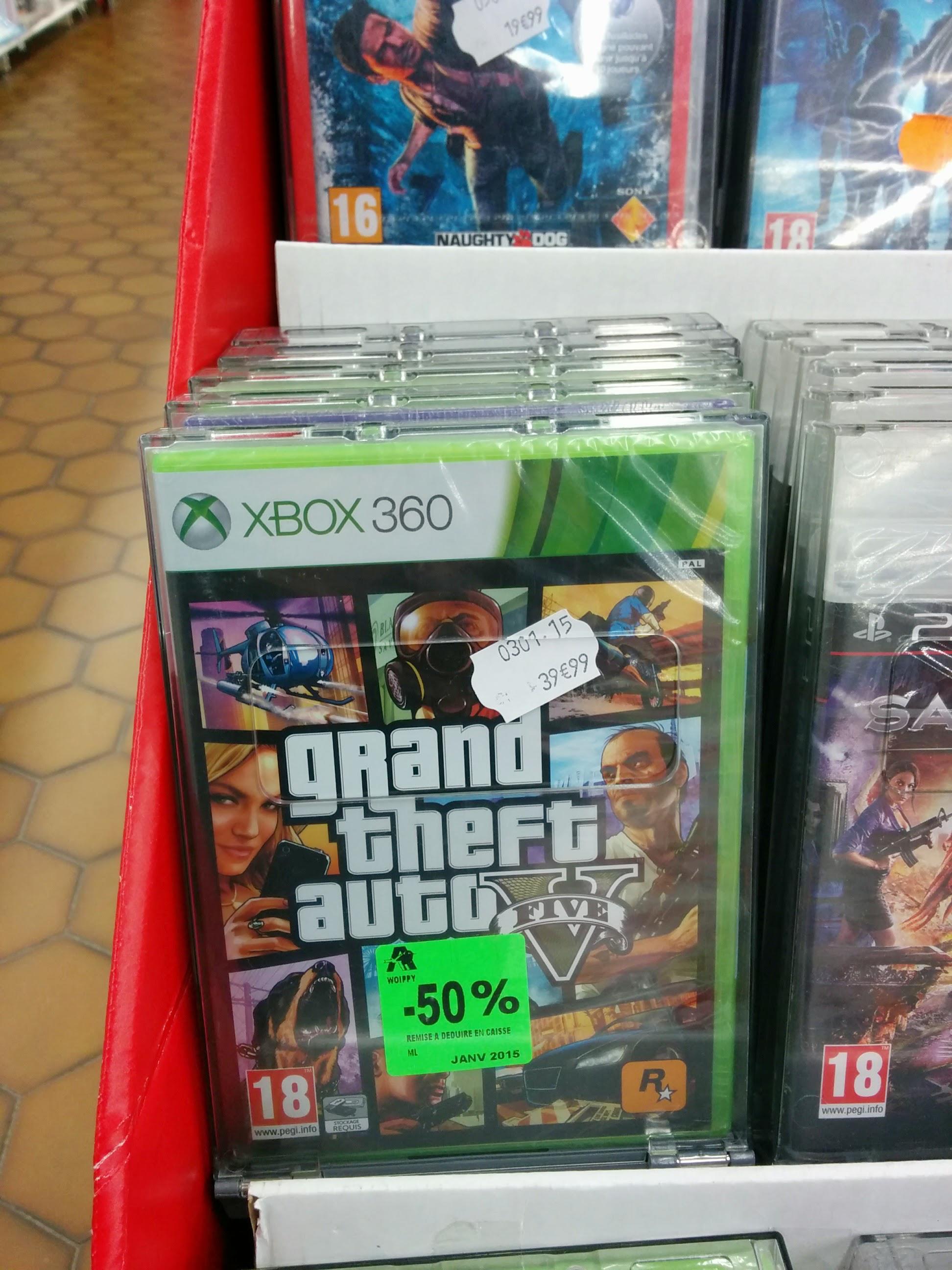Jeu Grand Theft Auto V sur  Xbox 360