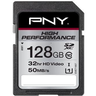 Carte mémoire SDXC PNY 128 go performance