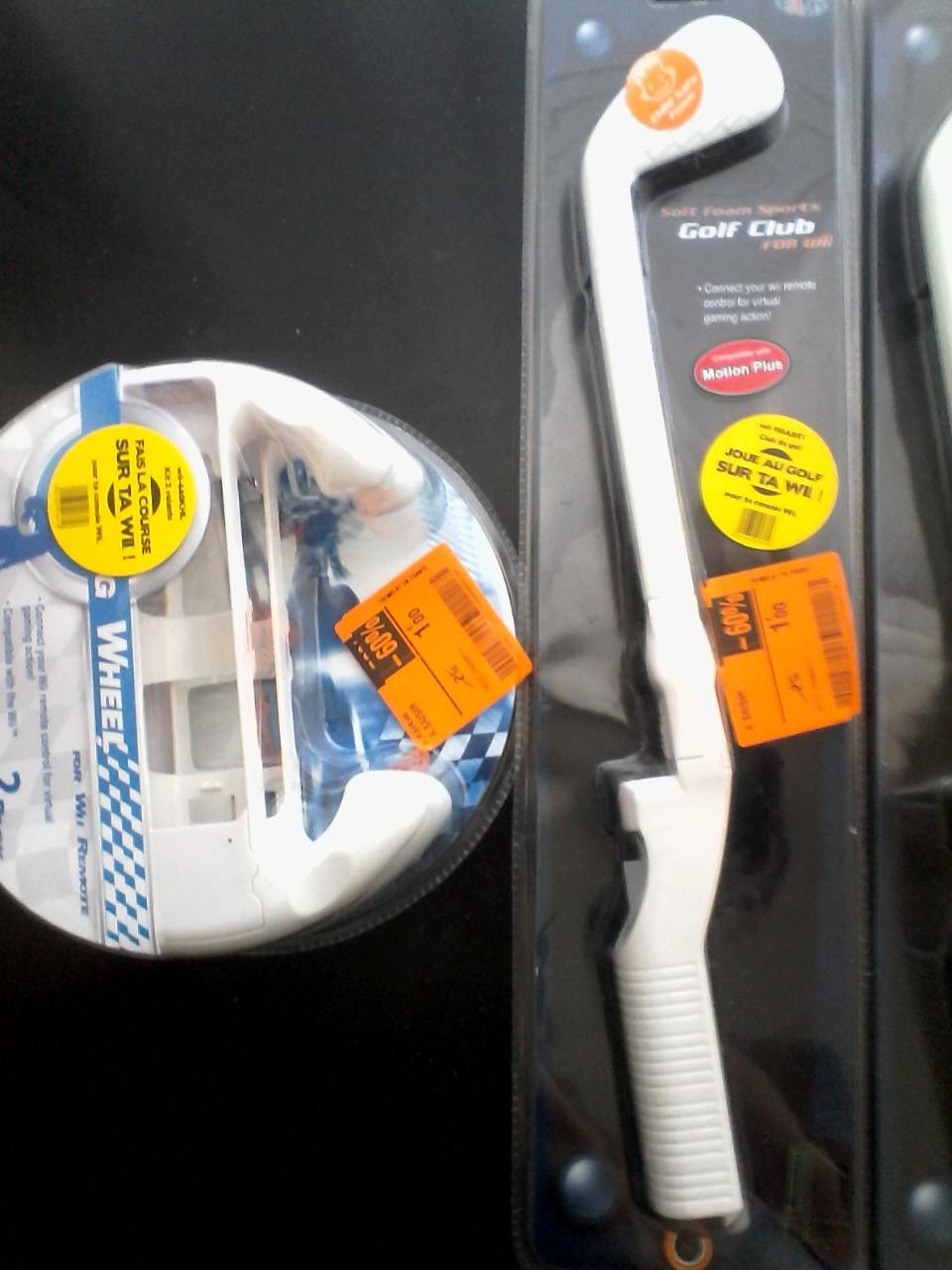 Sélection d'accessoires Wii à 1€ - Ex : Pack de 2 volants