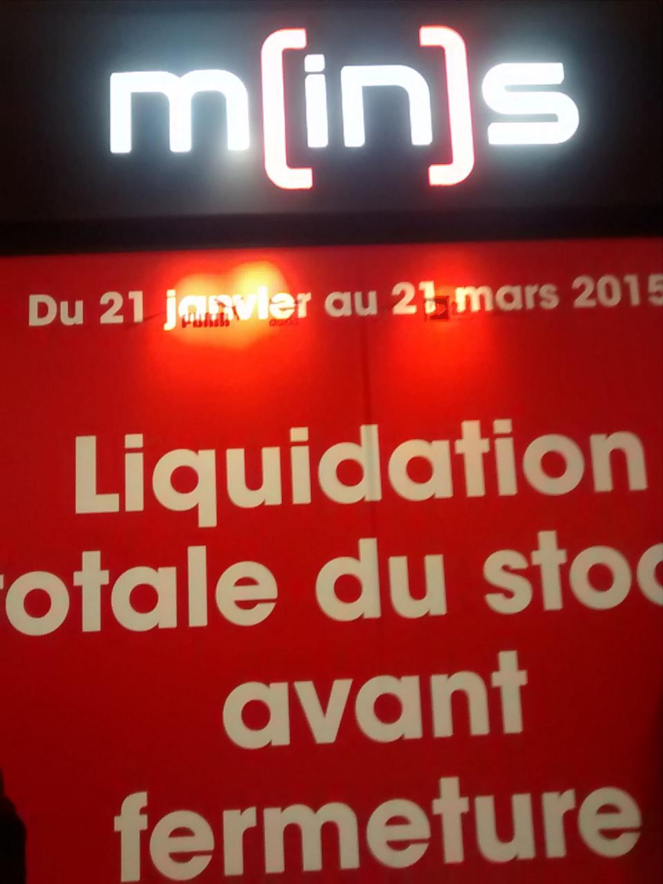 Liquidation Totale avant fermeture