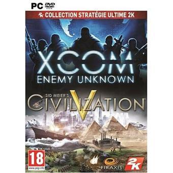 Coffret 2 jeux de stratégie sur PC : Civilization V + Xcom : Enemy Unknown