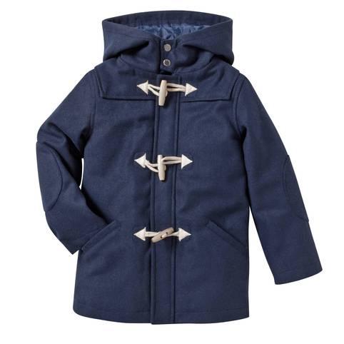 Manteau duffle-coat bleu à capuche garçon en 8 ans