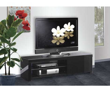 Meuble TV laqué Pure-Noir Filippino