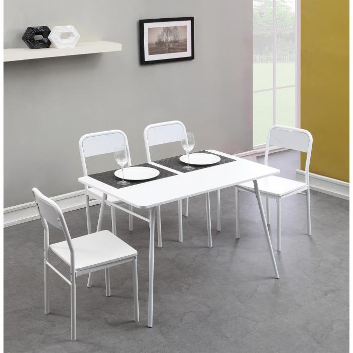 Ensemble table + 4 chaises 110cm Rapido