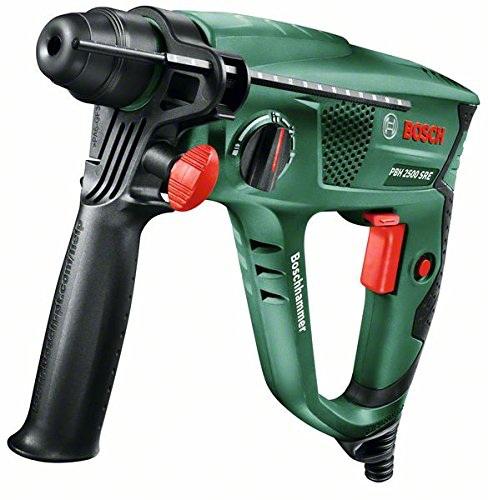 Perforateur Bosch PBH 2500 SRE avec coffret + mandrin + set de 6 forets SDS-plus et poignée supplémentaire