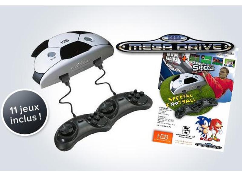 Console Sega MegaDrive SM2010 + 11 Jeux Intégrés + 2 Manettes