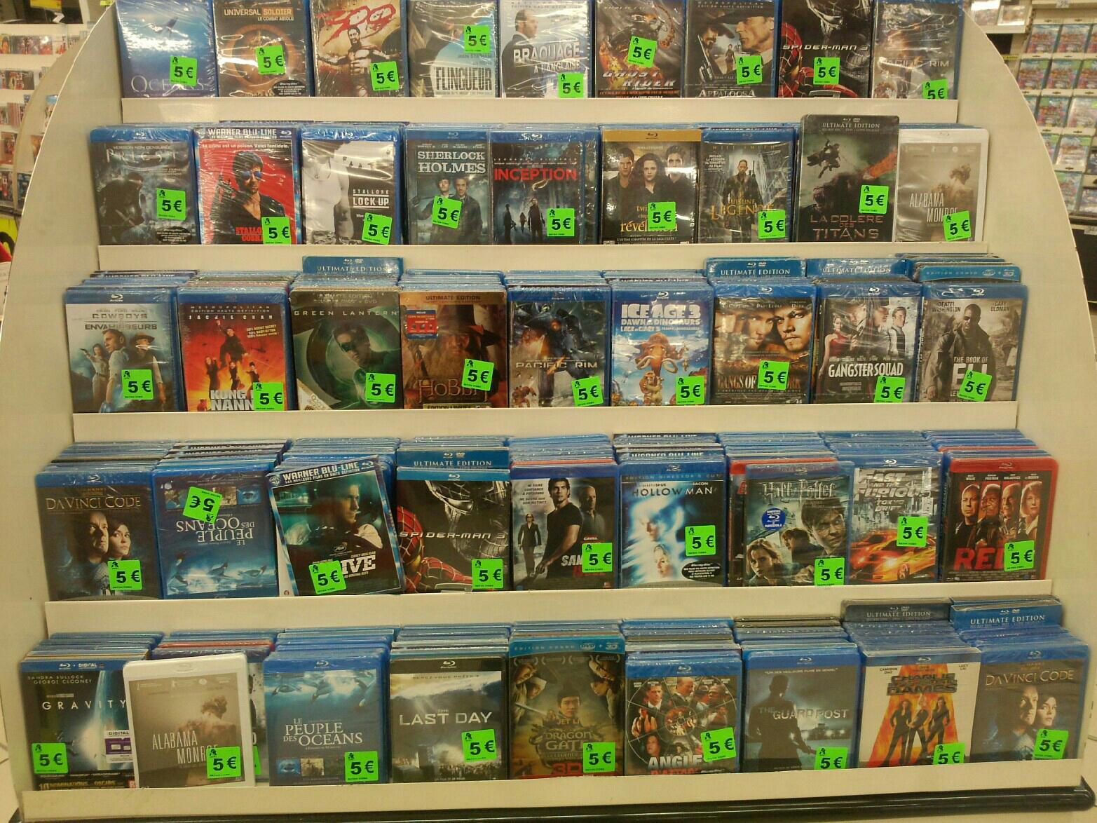 Grande sélection de films Blu-Ray (Gravity, Ice Age 3, Da Vinci Code, Oceans...)