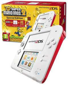 Pack Nintendo 2DS Super Mario Bros 2 Special Edition - Blanc/Rouge