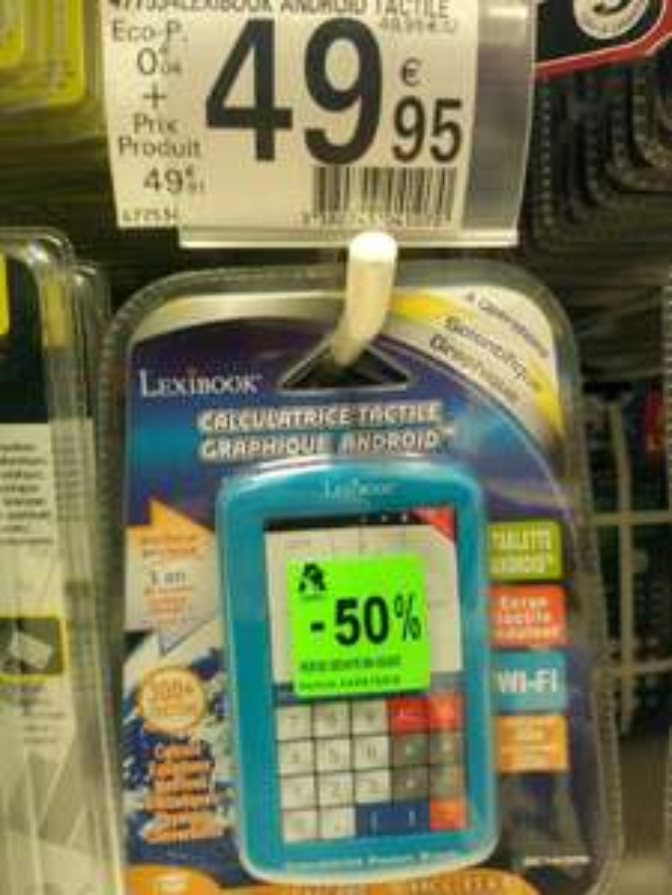 Calculatrice tactile graphique traducteur Android Lexibook GC143FR
