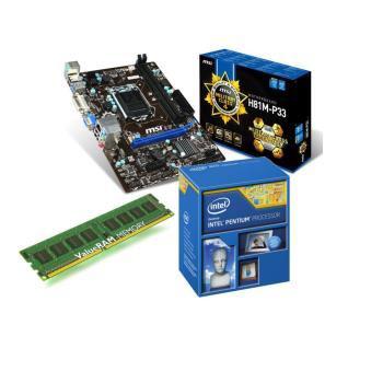 Kit  Evo : Processeur intel PG3220 Haswell  + Carte mère MSI H81MP33 + 4Go de mémoire Kingston 1600MHz